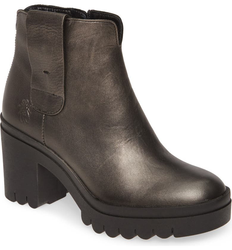 FLY LONDON Tine Bootie, Main, color, SMOKE LEATHER