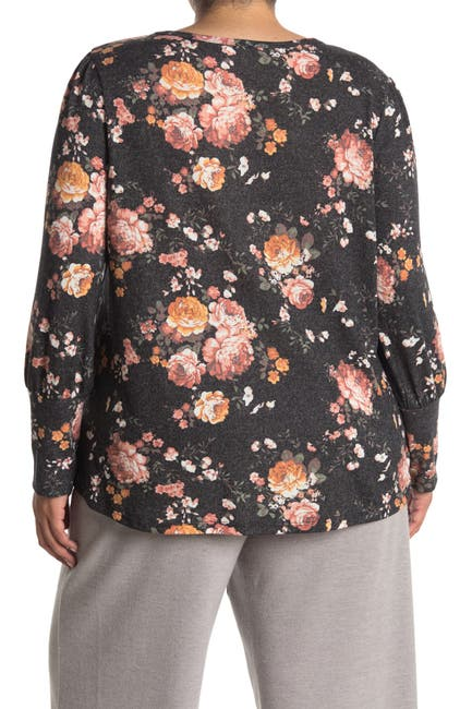 Image of C & C California Printed Front Knot Top