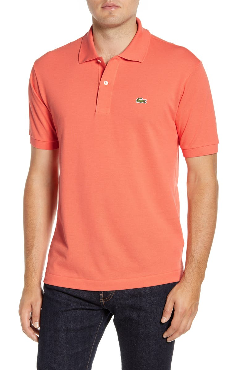 LACOSTE L1212 Regular Fit Piqué Polo, Main, color, DIANTHUS