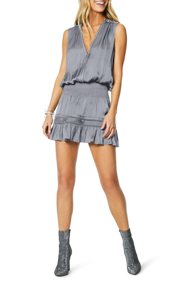 RAMY BROOK Devon Minidress, Main, color, NICKLE