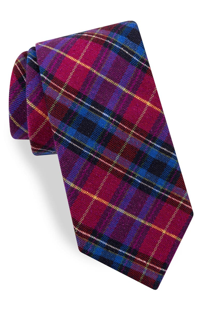 TED BAKER LONDON Plaid Woven Silk Tie, Main, color, 650