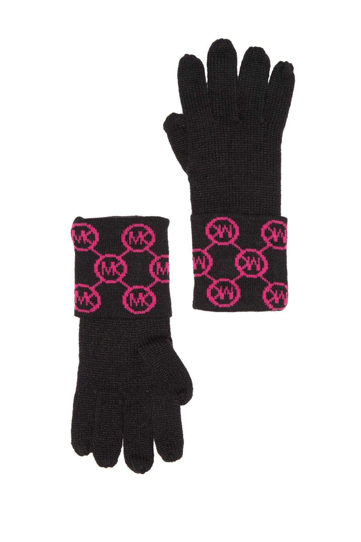 Image of Michael Kors Jet Set Logo Cuff Gloves
