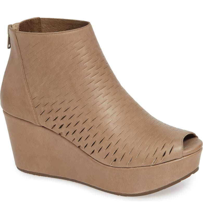 CHOCOLAT BLU Warner Perforated Platform Bootie, Main, color, TAUPE LEATHER