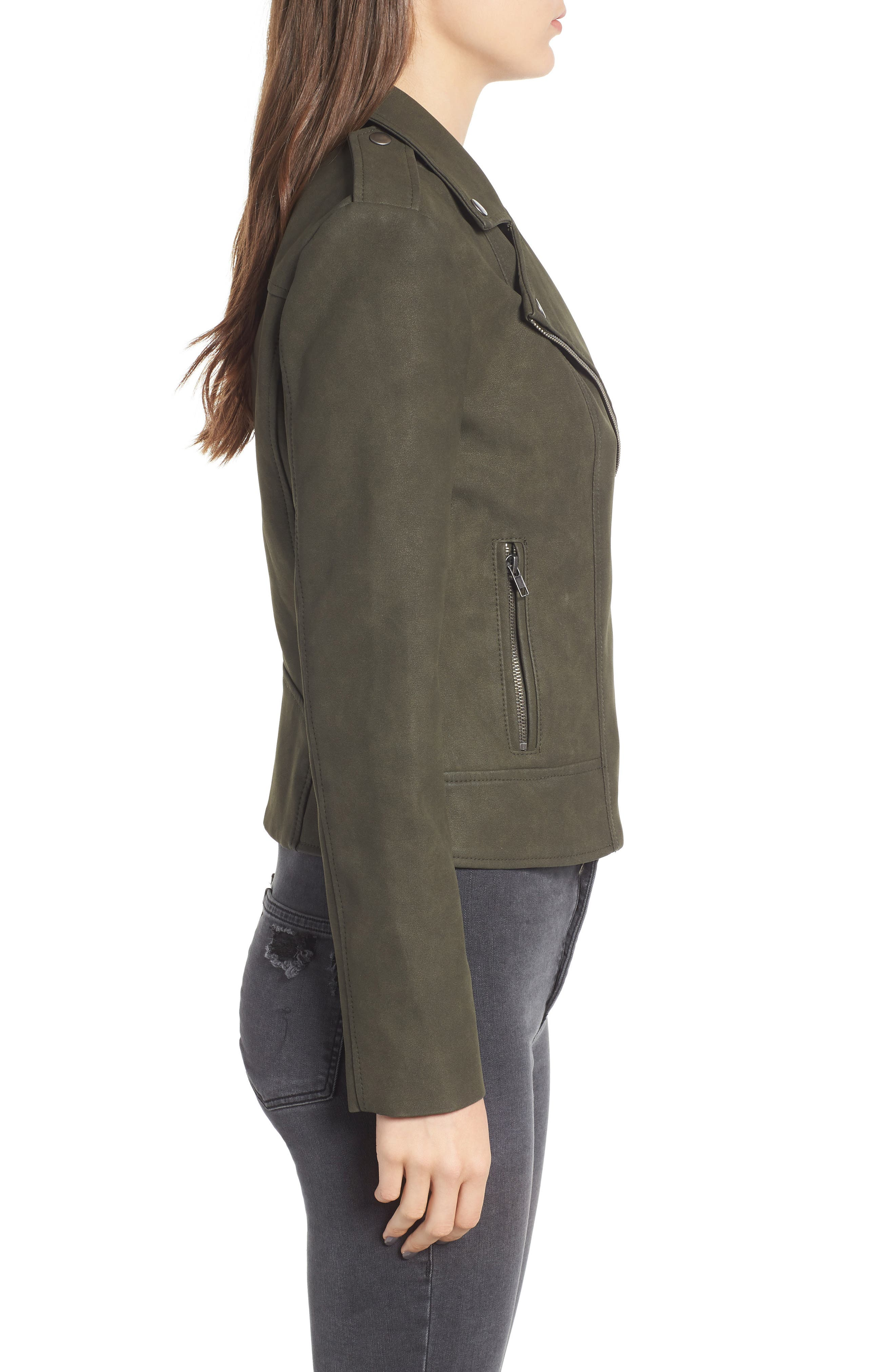 ,                             Easy Rider Faux Leather Moto Jacket,                             Alternate thumbnail 16, color,                             301
