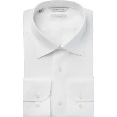 Suitsupply Slim Fit Traveler Dress Shirt - White
