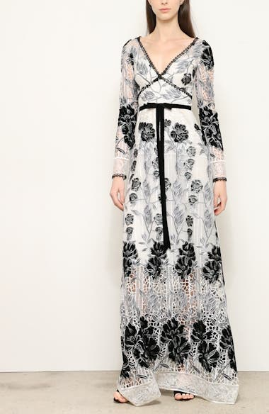 Long Sleeve Embroidered Lace Gown, video thumbnail
