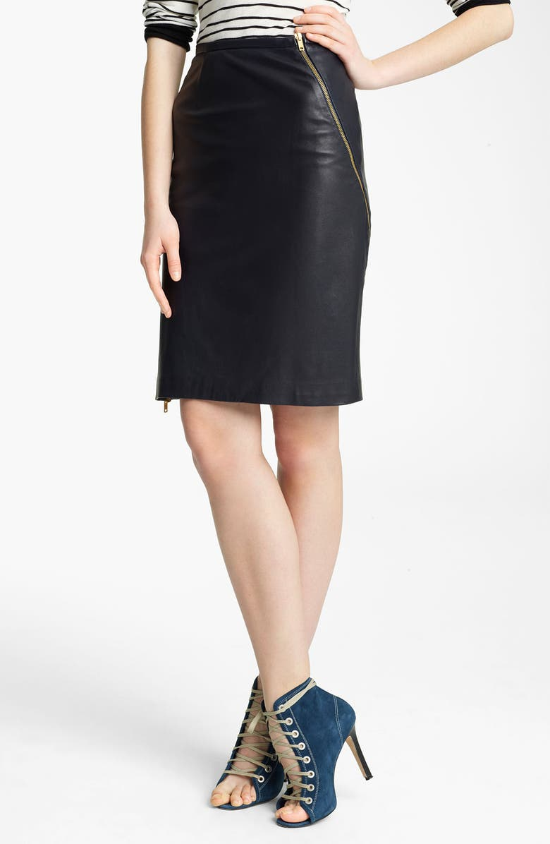 BOY. BY BAND OF OUTSIDERS Band of Outsiders Leather Pencil Skirt, Main, color, 410