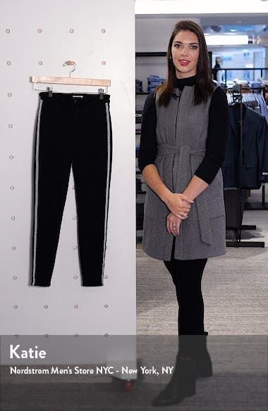 Margot Contrast Stitch Crop Skinny Jeans, sales video thumbnail