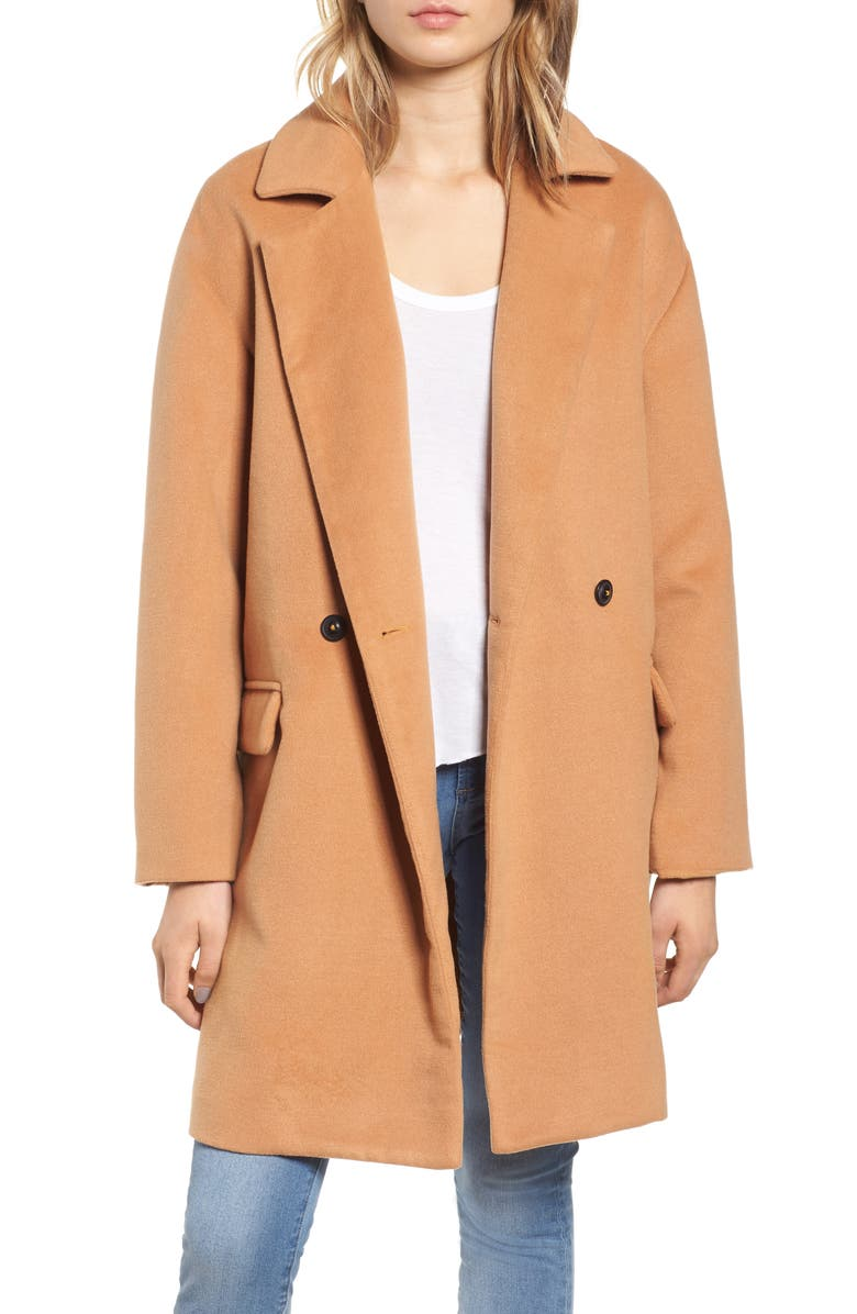 LEITH Oversize Double Breasted Coat, Main, color, 230