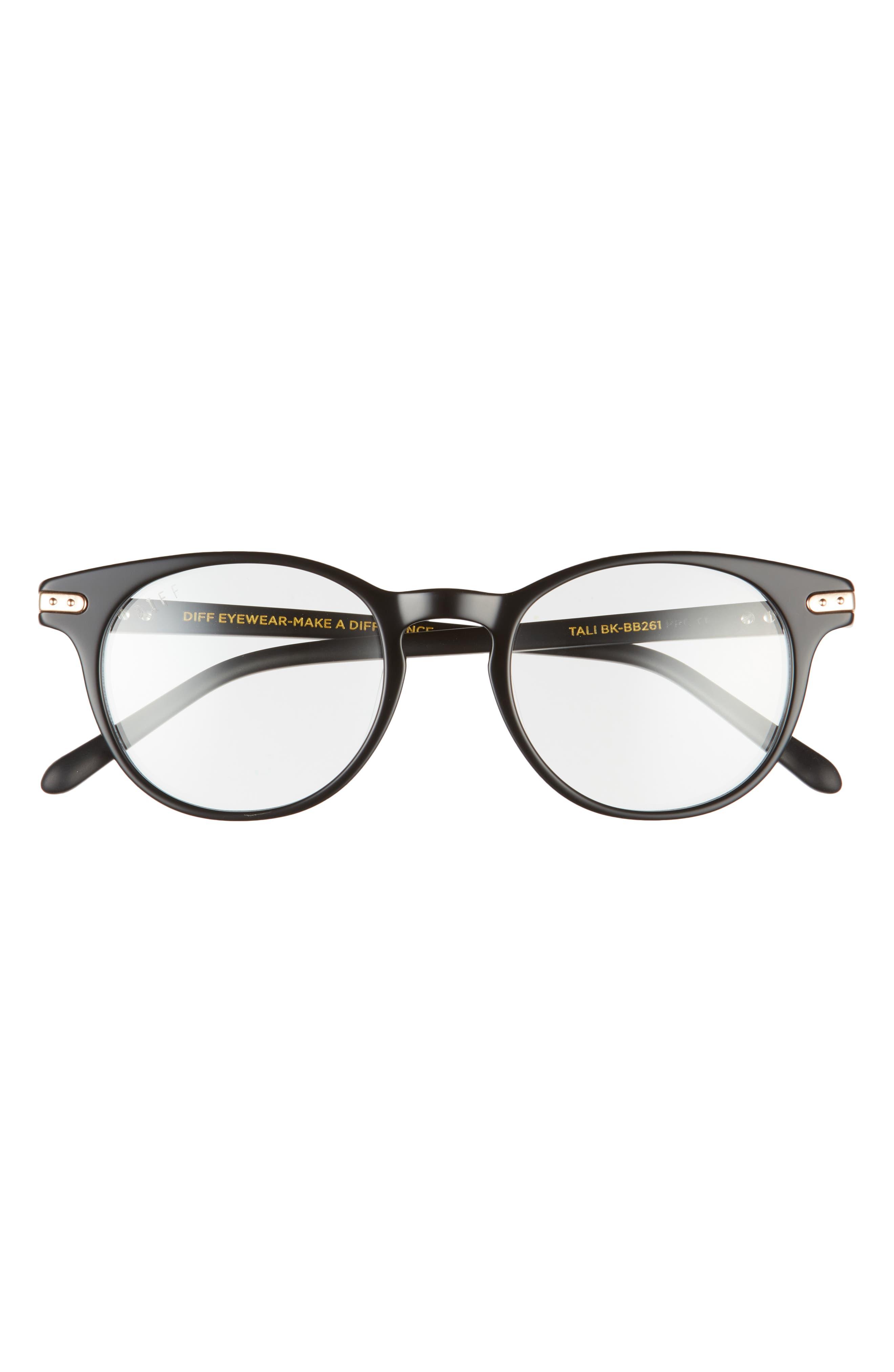 Tali 48mm Round Blue Light Blocking Glasses