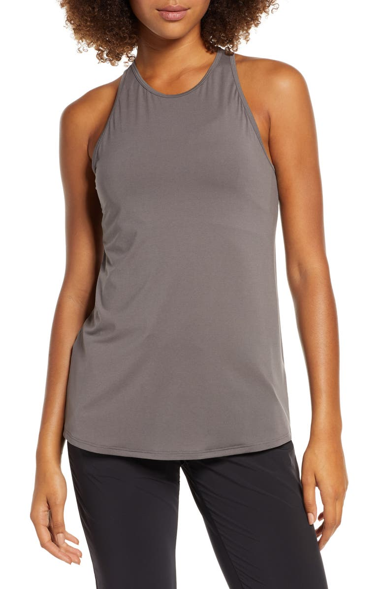 ZELLA Strength Racerback Tank, Main, color, GREY KITTEN
