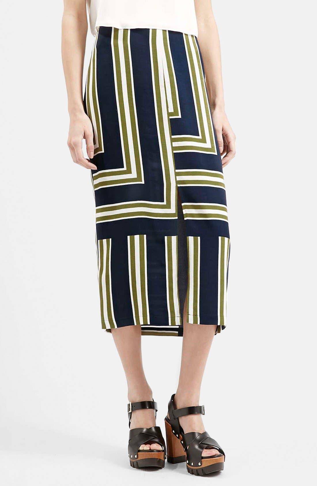 Slit Midi Skirt, Main, color, 410