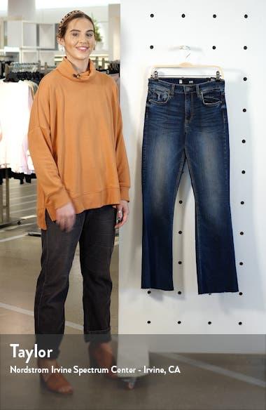Stella High Waist Raw Hem Flare Jeans, sales video thumbnail