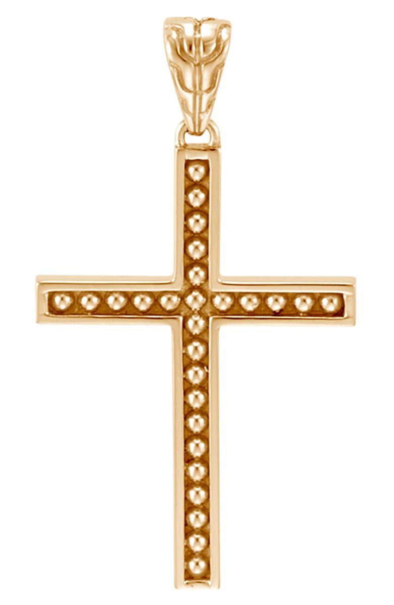JOHN HARDY Men's Jawan 18K Gold Cross Pendant, Main, color, GOLD