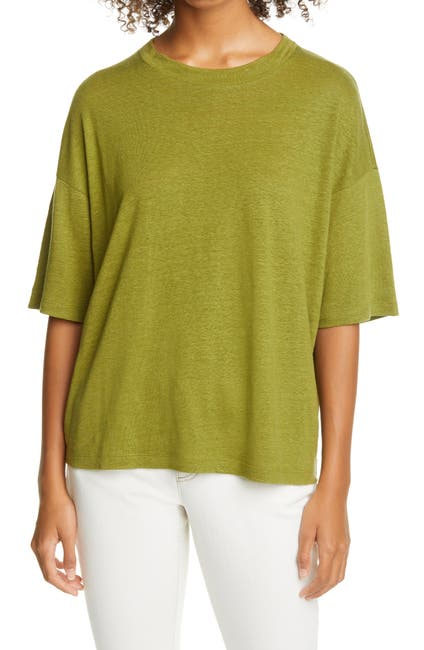 Image of Eileen Fisher Organic Linen T-Shirt