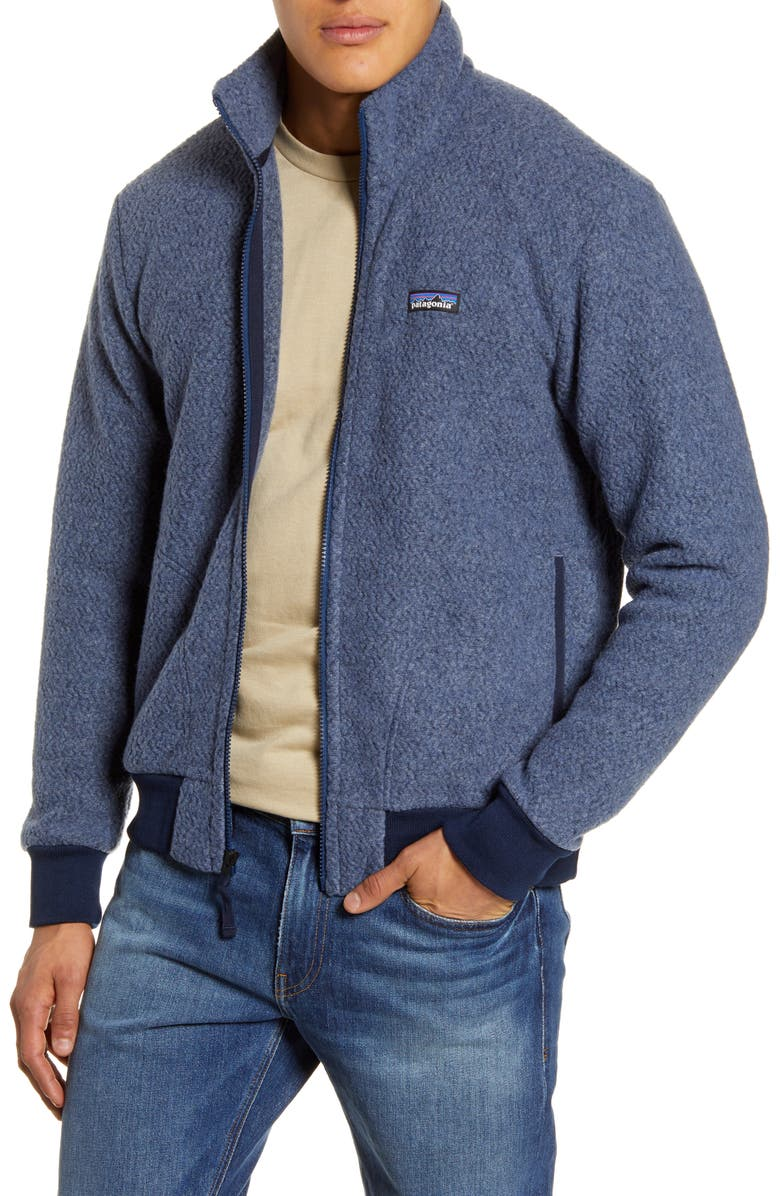 PATAGONIA Woolyester Fleece Jacket, Main, color, STONE BLUE