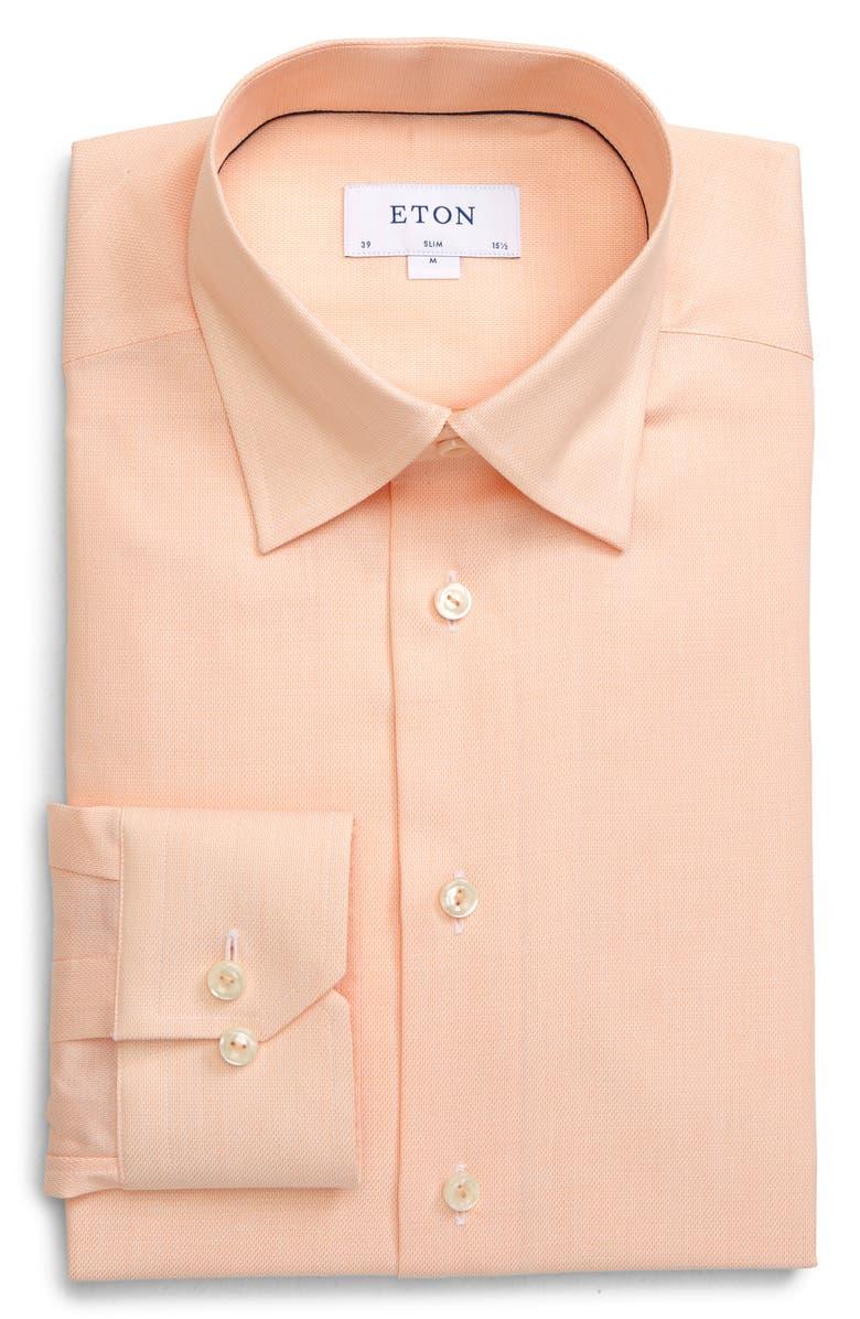 ETON Slim Fit Solid Cotton Dress Shirt, Main, color, 800