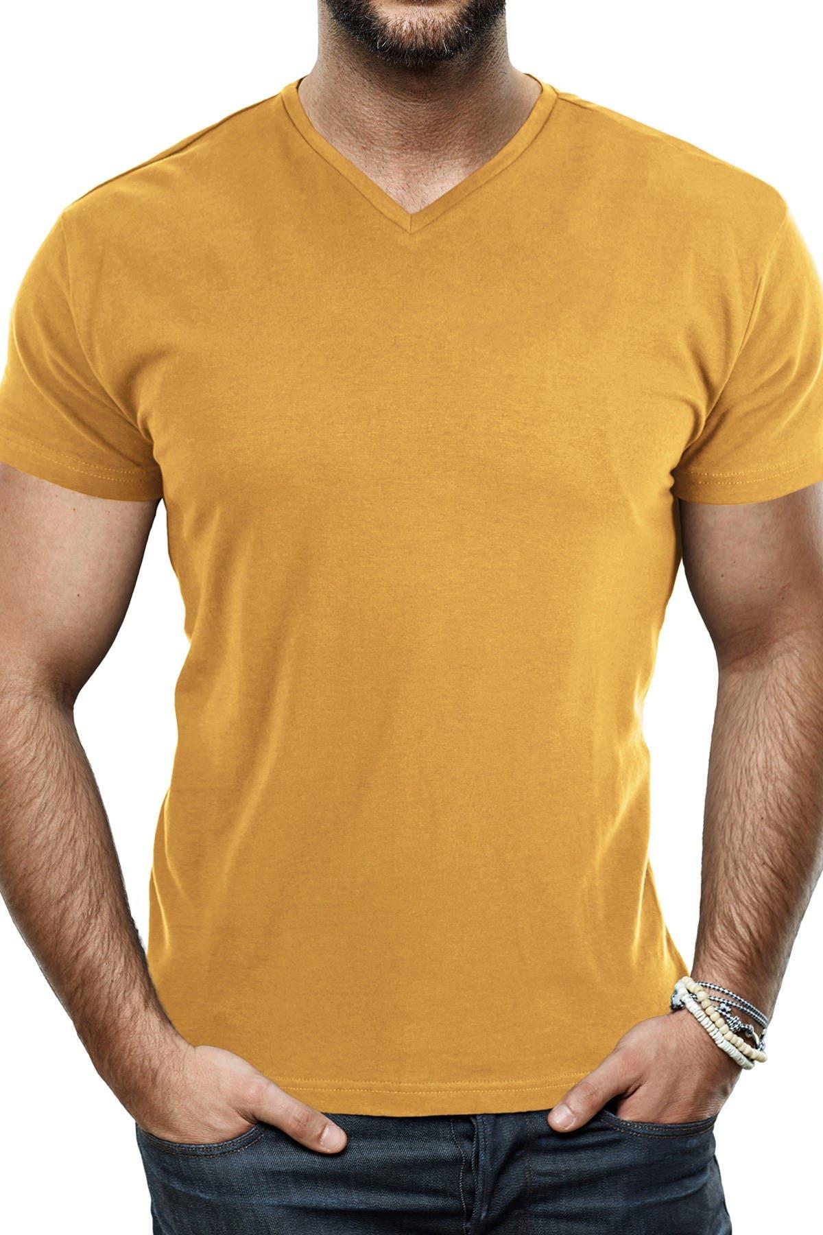 Image of XRAY Solid V-Neck Flex T-Shirt