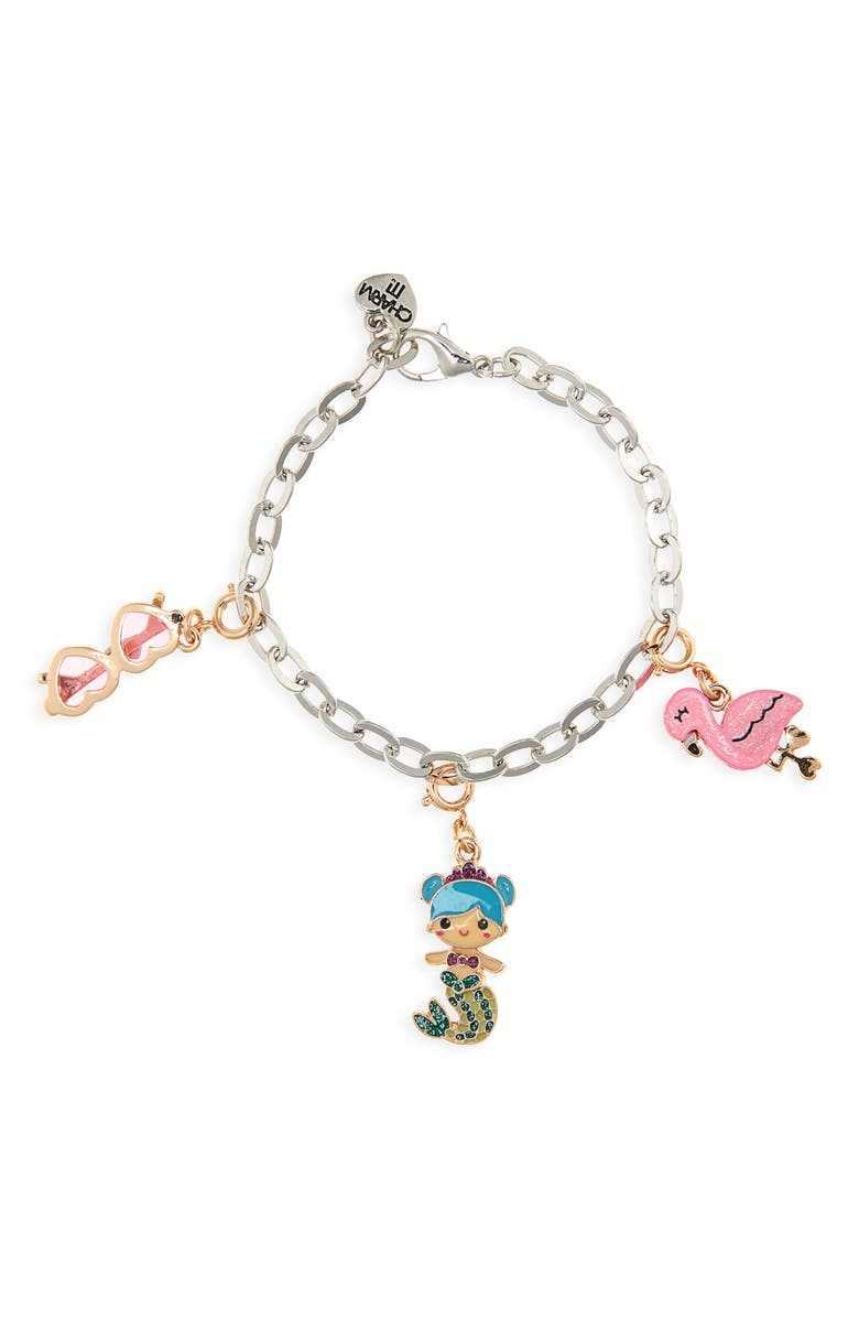 CHARM IT!<SUP>®</SUP> CHARM IT<sup>®</sup> Mermaid Sunset Charm Bracelet, Main, color, SILVER