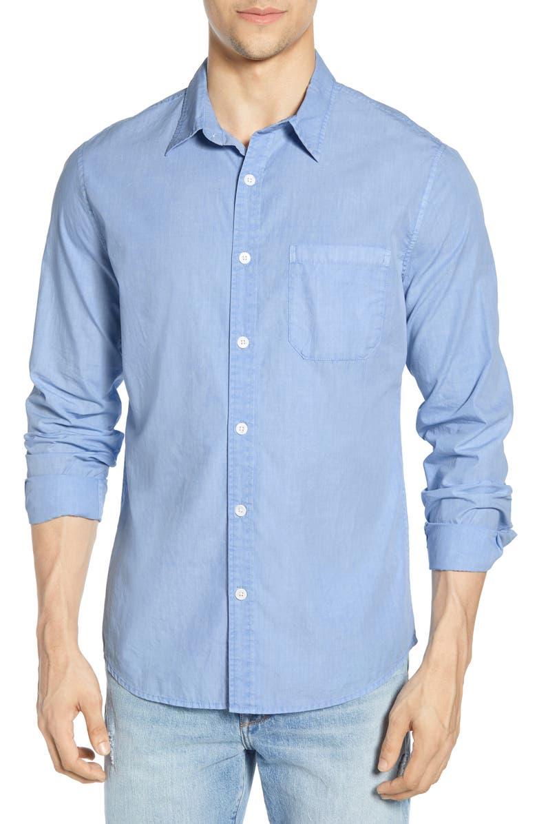 FRAME Slim Fit Solid Shirt, Main, color, ATLAS
