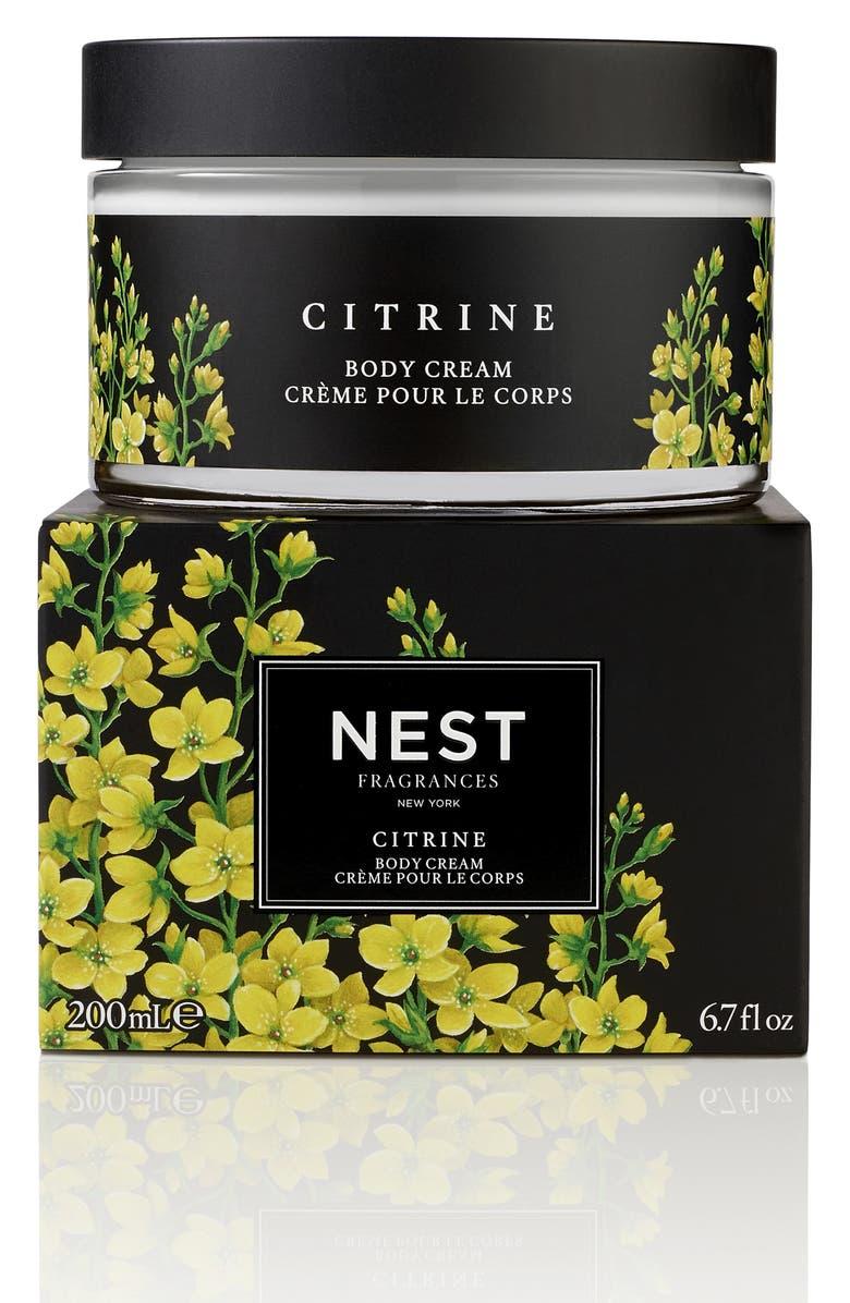NEST FRAGRANCES Citrine Body Cream, Main, color, NO COLOR