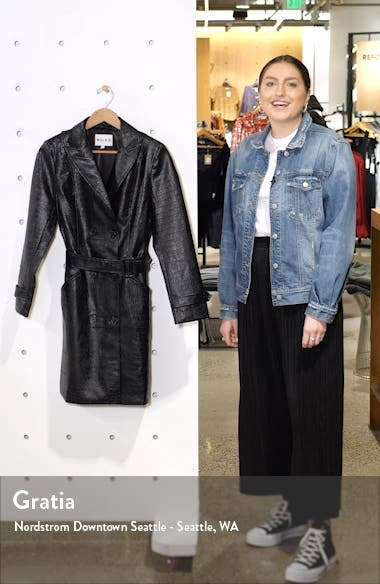 Reptile Embossed Faux Leather Jacket, sales video thumbnail