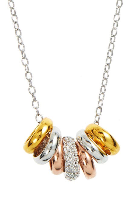 Image of Savvy Cie 18K Tricolor Gold Vermeil Rondelle Necklace
