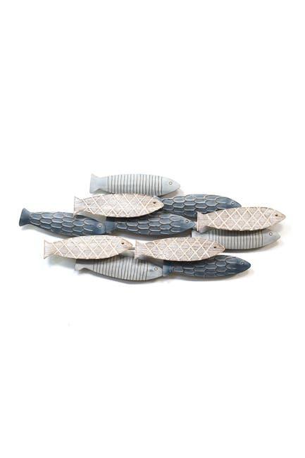 Image of Stratton Home Multi School of Fish Wall Decor