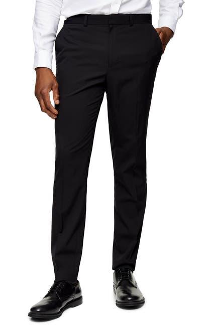 Image of TOPMAN Skinny Fit Tuxedo Dress Pants