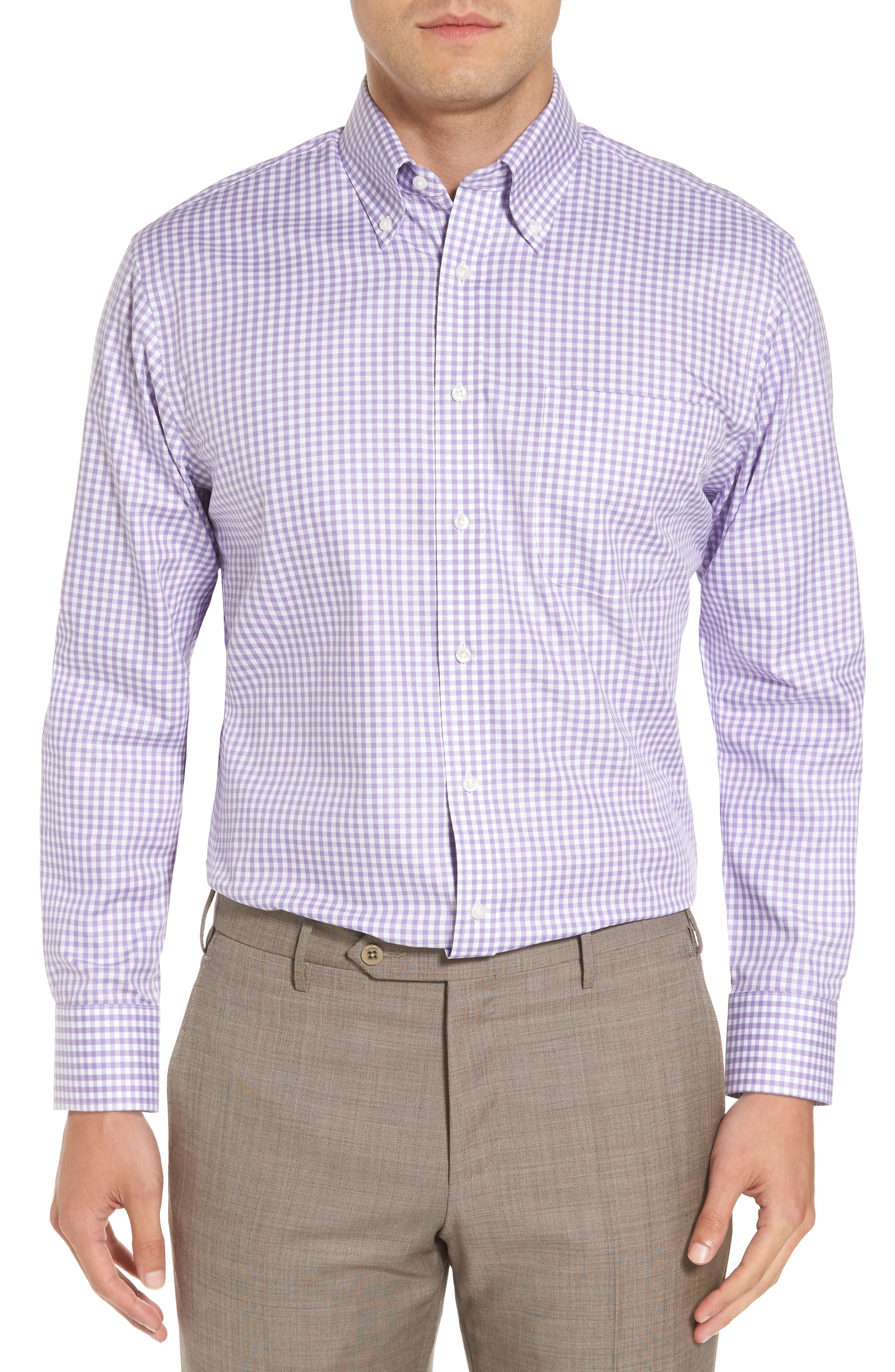 ,                             Traditional Fit Non-Iron Gingham Dress Shirt,                             Main thumbnail 19, color,                             500