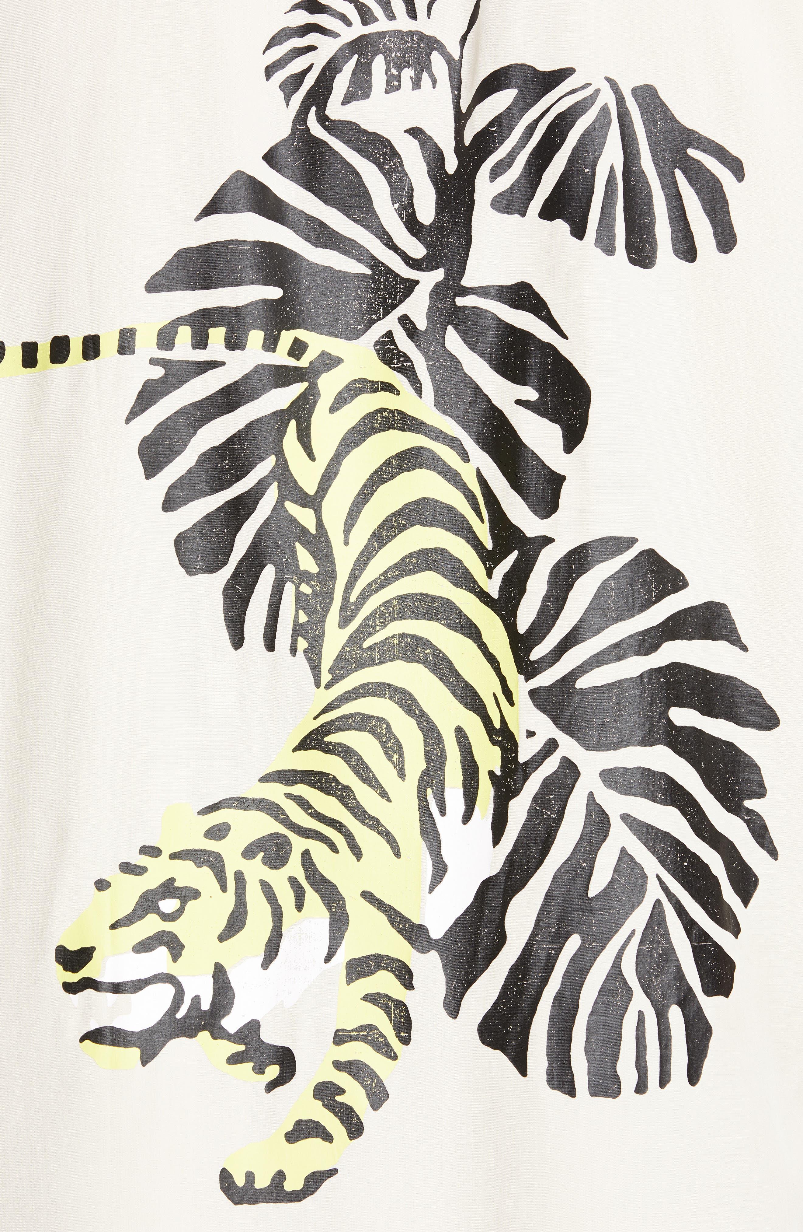 ,                             White Tiger Camp Shirt,                             Alternate thumbnail 5, color,                             WHITE