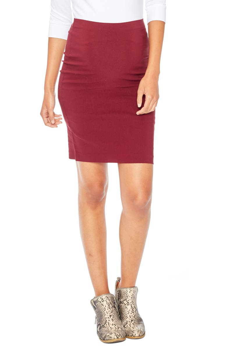 ROSIE POPE 'Pret' Maternity Skirt, Main, color, 601