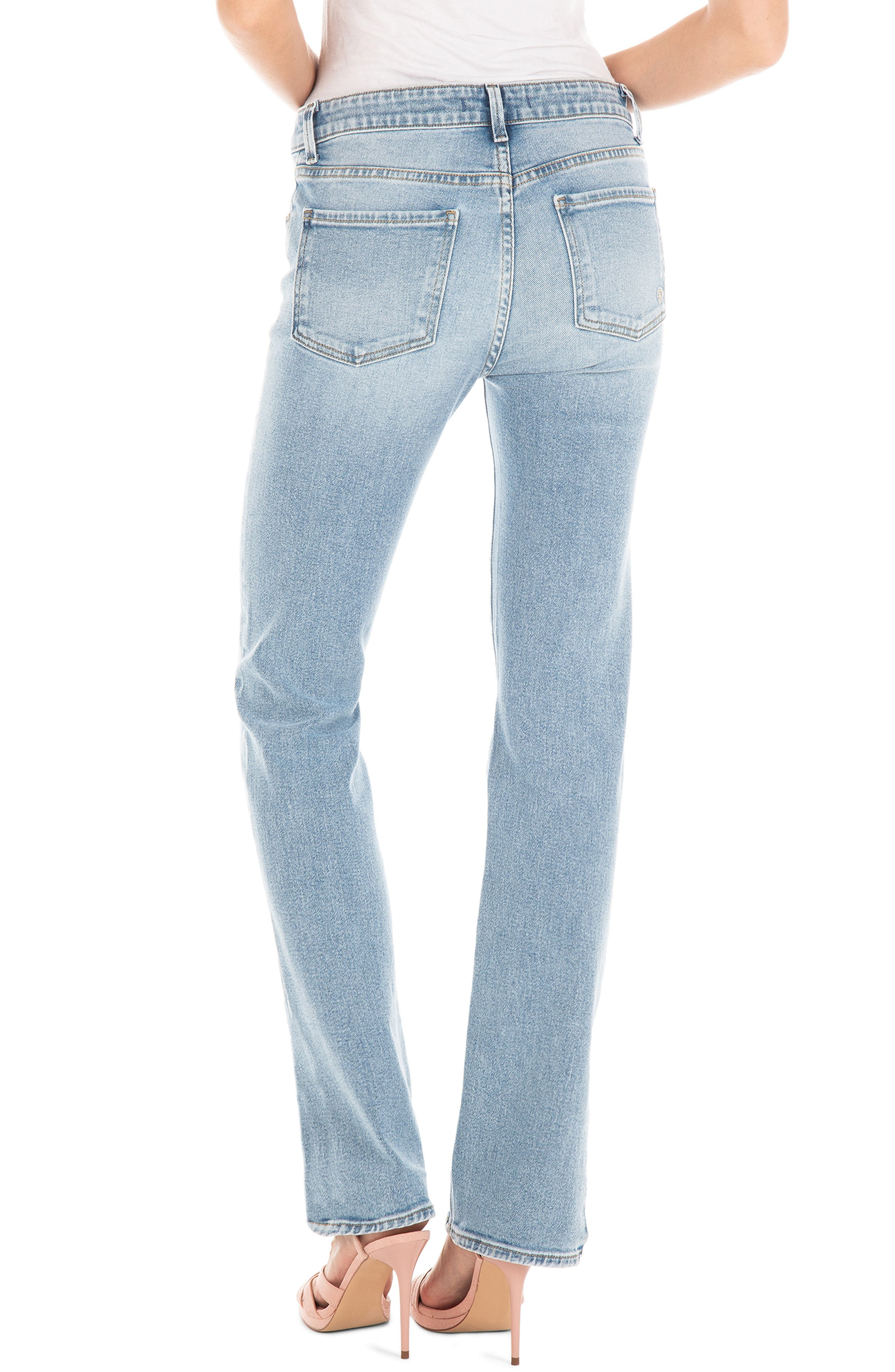 ,                             Cher High Waist Ankle Slim Jeans,                             Alternate thumbnail 2, color,                             BUTTERFLY BLUE