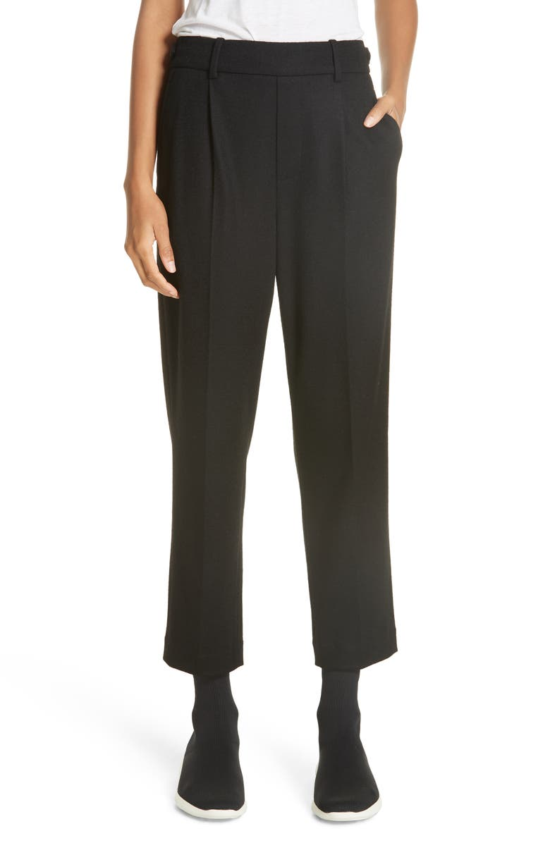 VINCE Cropped Pull-On Pants, Main, color, 001