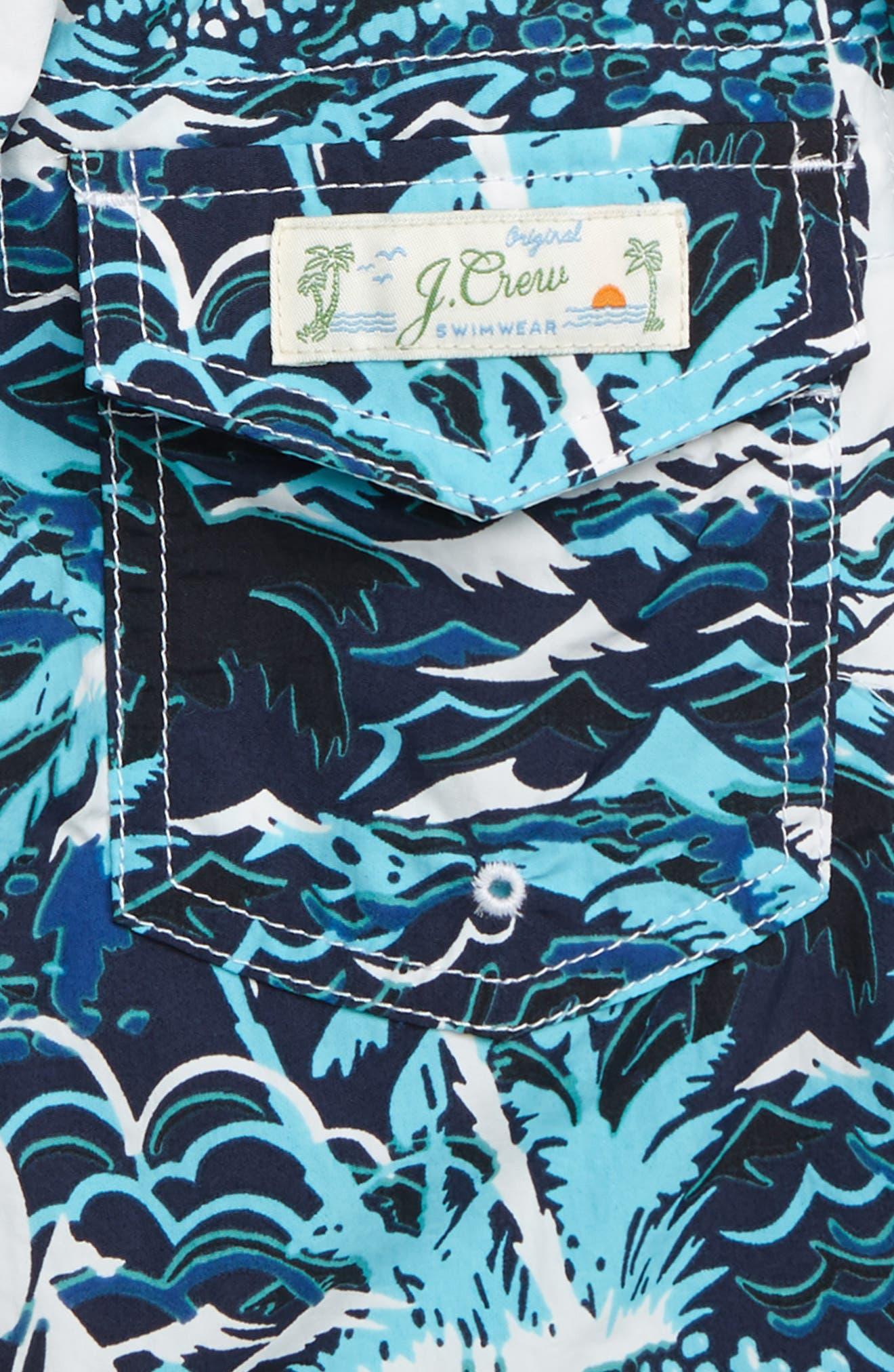 ,                             Sailboats Swim Trunks,                             Alternate thumbnail 3, color,                             SAILBOAT ISLE BLUE MULTI