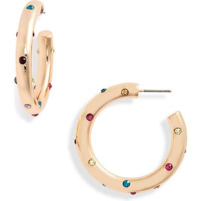 Bp. Rainbow Stone Hoop Earrings