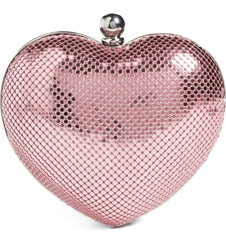 WHITING & DAVIS 'Charity Heart' Minaudière, Main, color, 650
