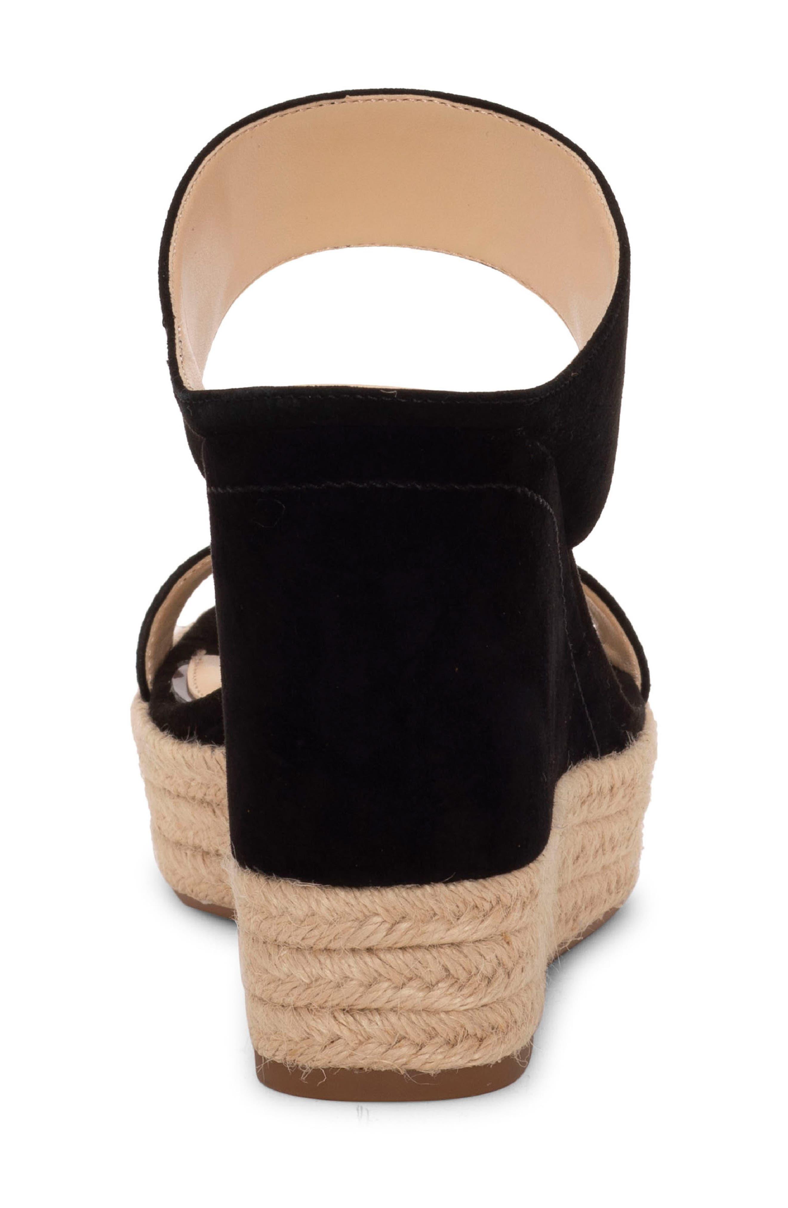 ,                             Siera Espadrille Wedge Slide Sandal,                             Alternate thumbnail 7, color,                             BLACK