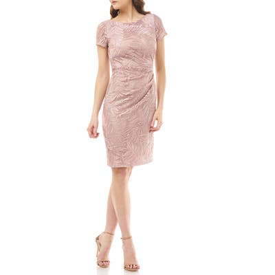 Js Collections Leaf Soutache Cocktail Dress, Pink