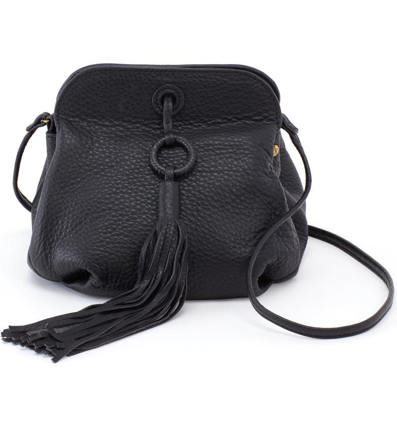 HOBO Birdy Tassel Leather Crossbody Bag, Main, color, 001