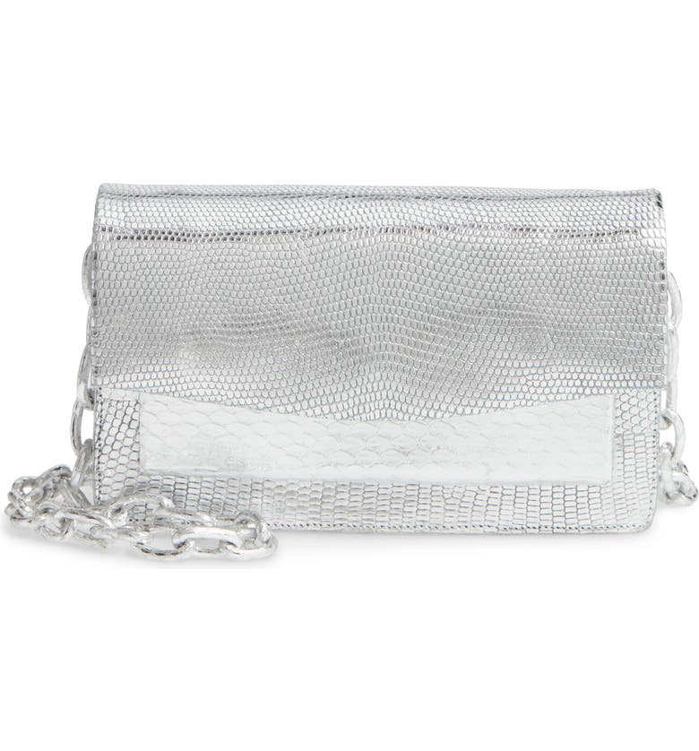 NANCY GONZALEZ Mini Eden Genuine Crocodile Flap Clutch, Main, color, 045