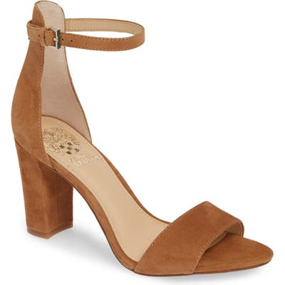 Vince Camuto Corlina Ankle Strap Sandal, Brown (Nordstrom Exclusive)