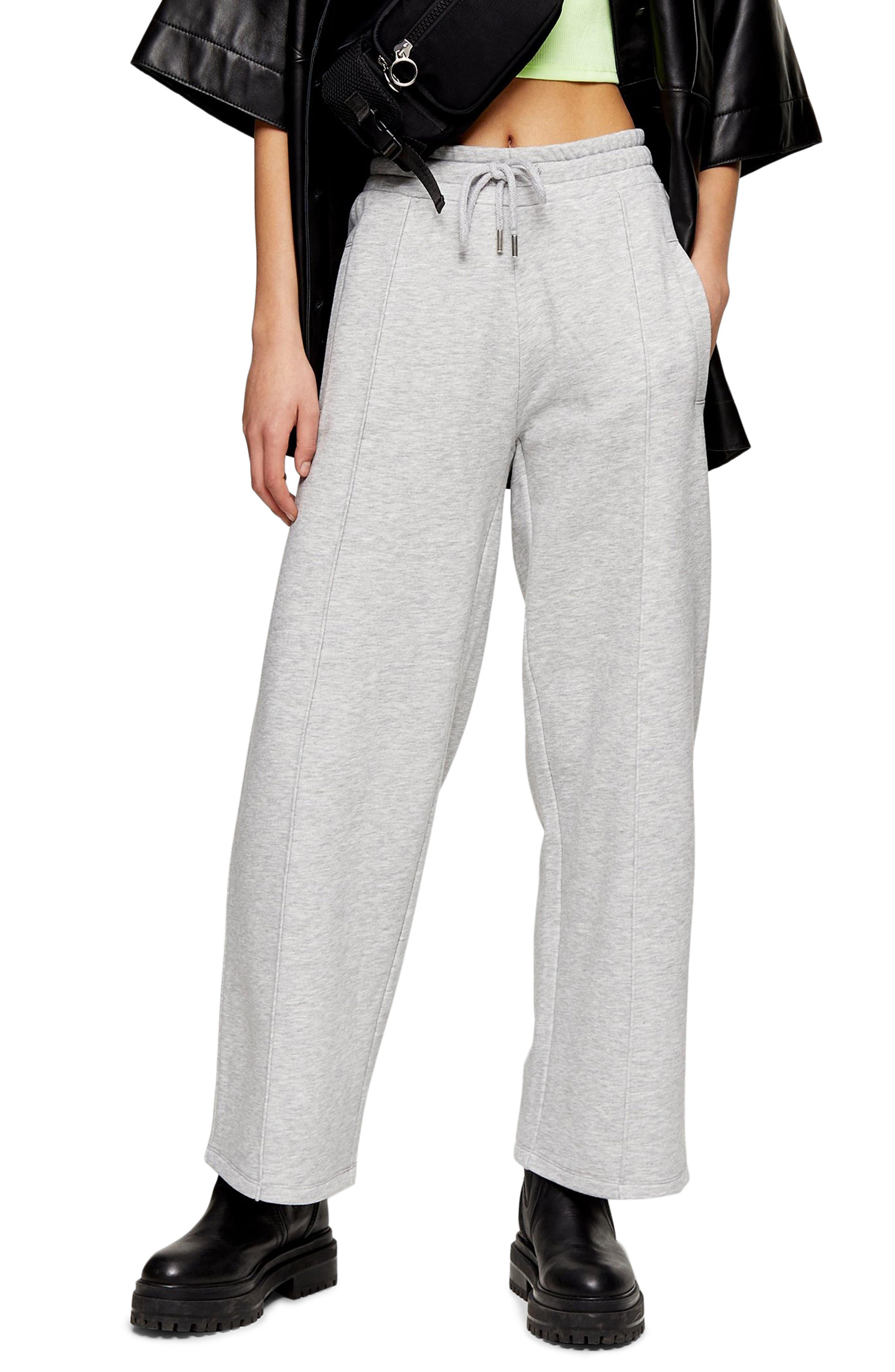 Petite Women's Topshop Wide Leg Sweatpants