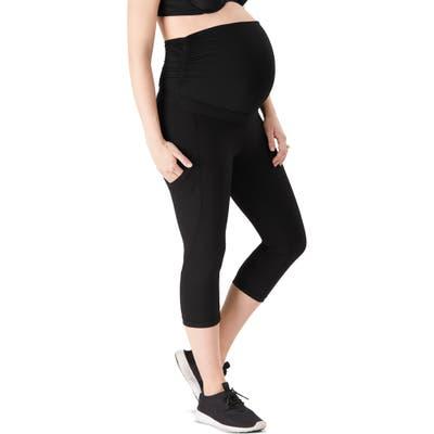 Belly Bandit Activesupport Power Capri Maternity Leggings, Black