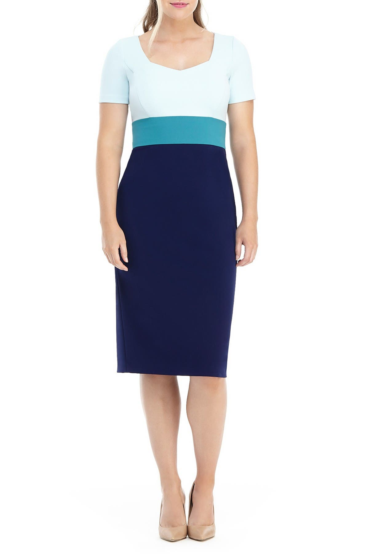 Image of Maggy London Natalia Colorblock Midi Dress