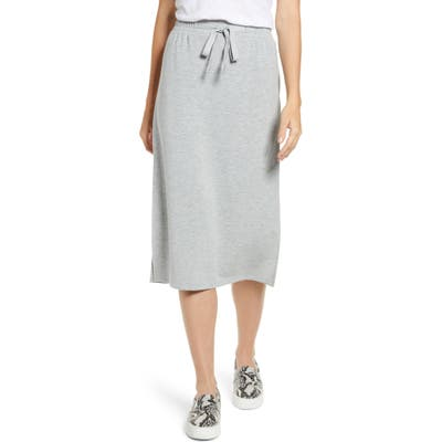 Caslon Textured Knit Skirt, Grey