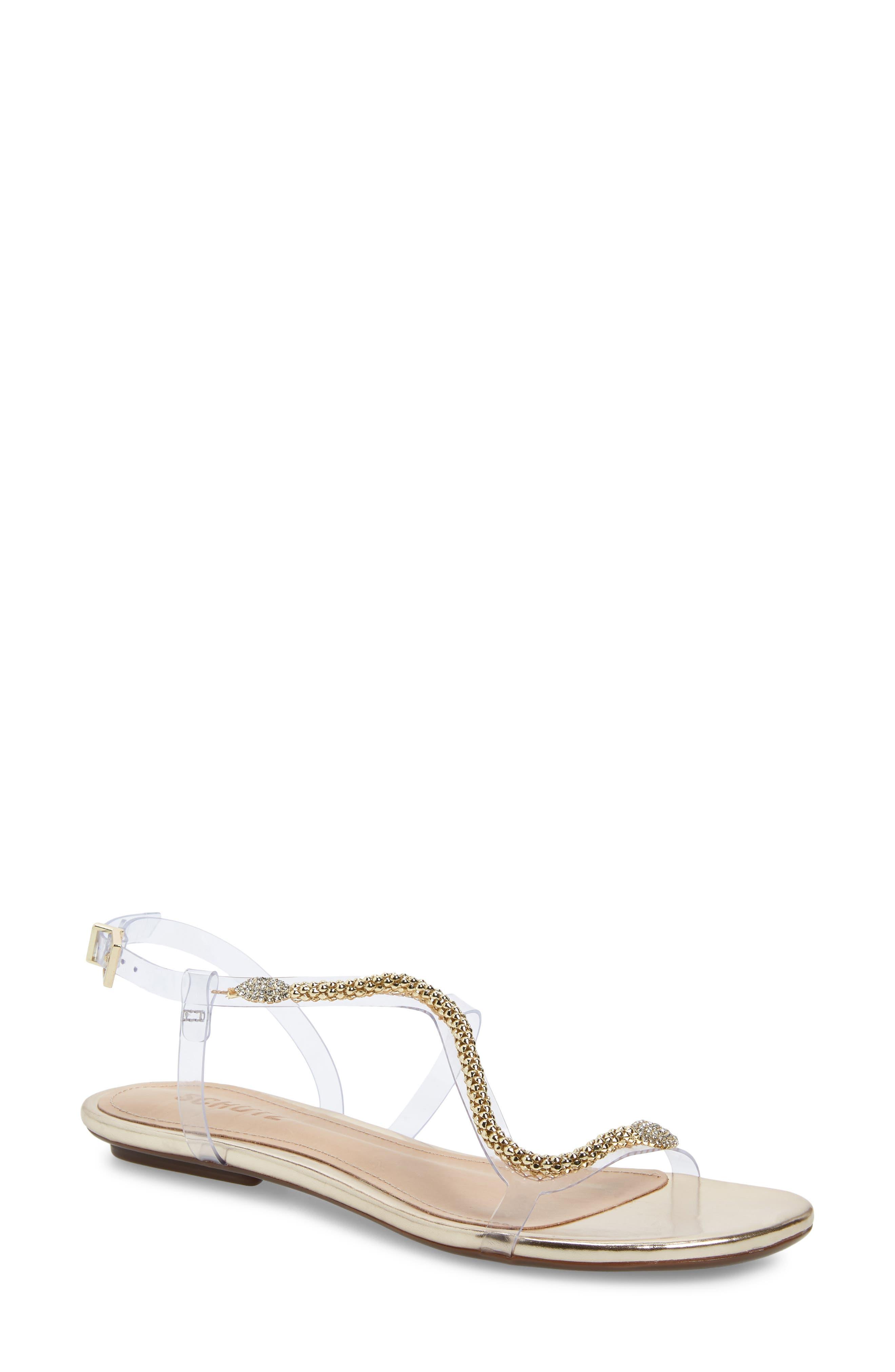 Schutz Gabbyl Embellished Sandal, Beige