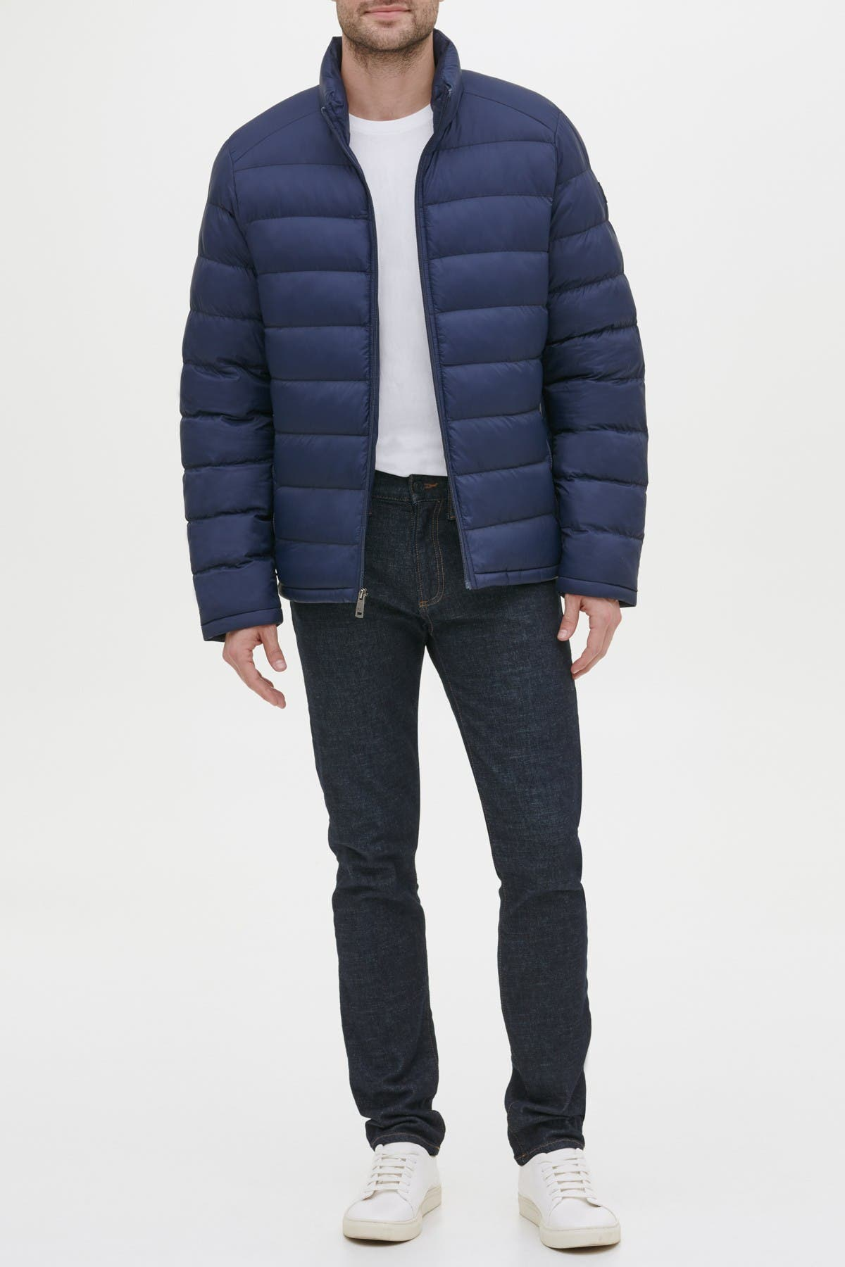 Image of KENNETH COLE Horizontal Midweight Quilted Puffer Jacket