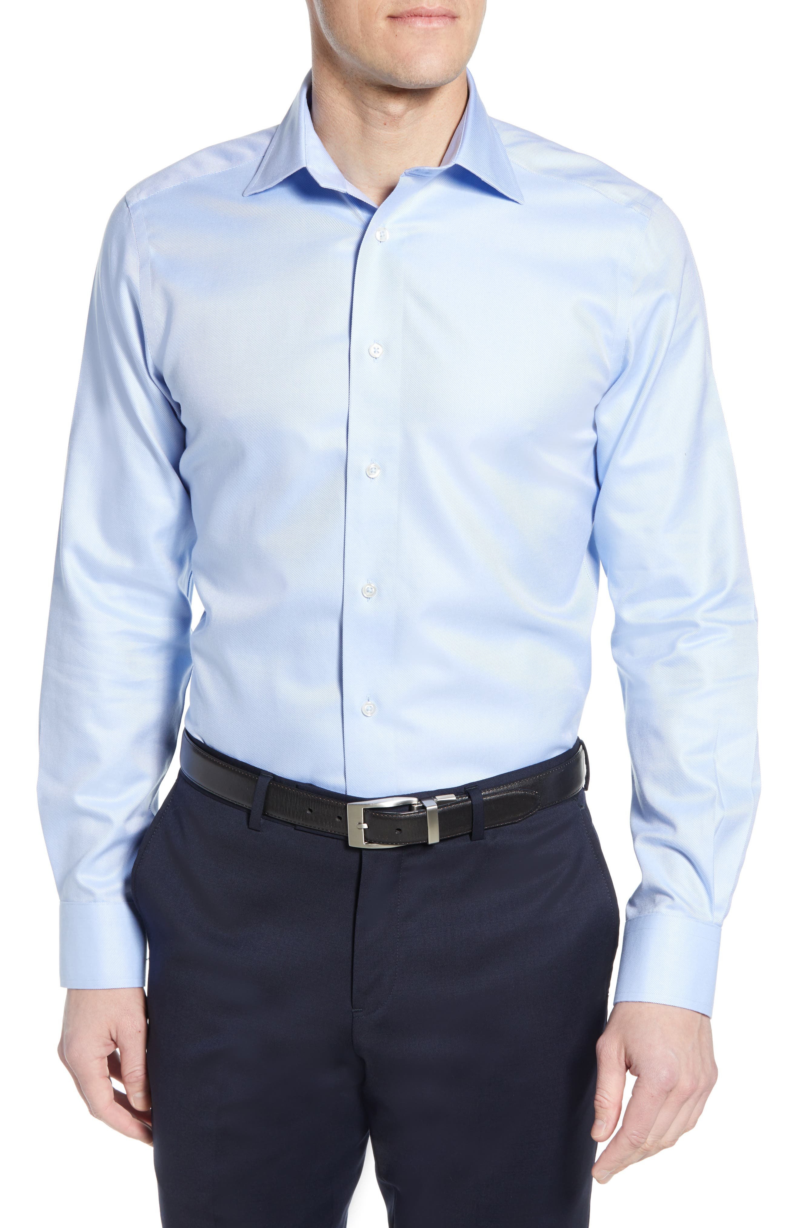 Luxury Non-Iron Trim Fit Solid Dress Shirt