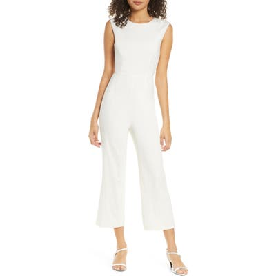 Ali & Jay The Riviera Tie Back Crop Jumpsuit, White